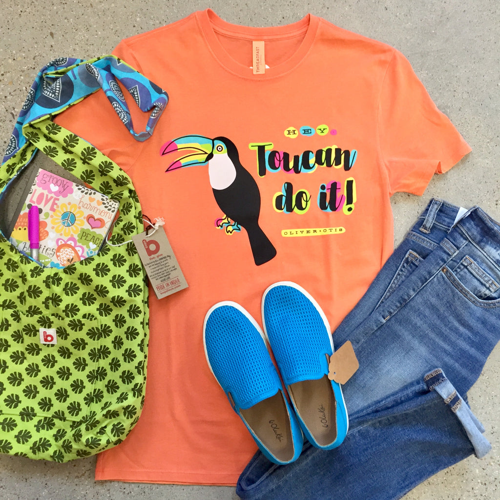 Bright and Beachy back to school outfit