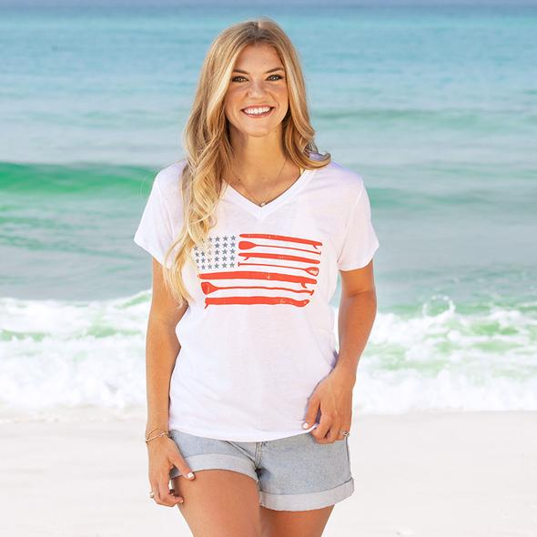30A® Paddle Board USA Recycled V-Neck