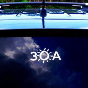 30A® White Vinyl Sticker