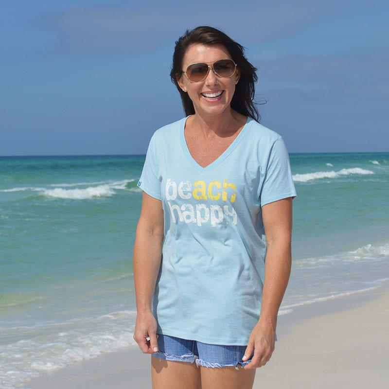 30A® Beach Happy Tee (Light Blue)