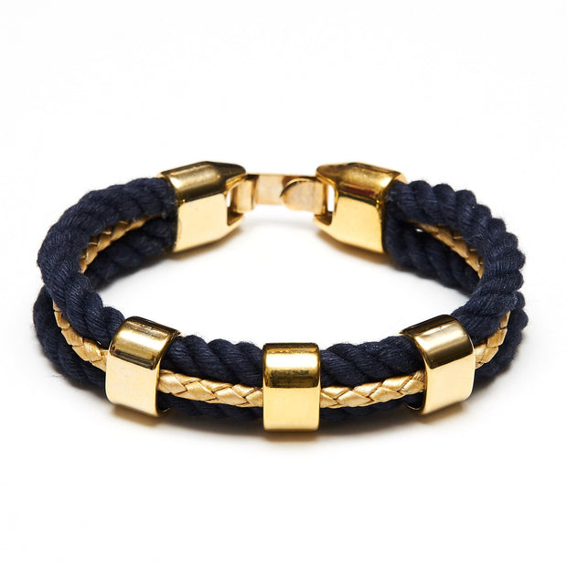 Allison Cole Brunswick Bracelet (Navy/Gold)