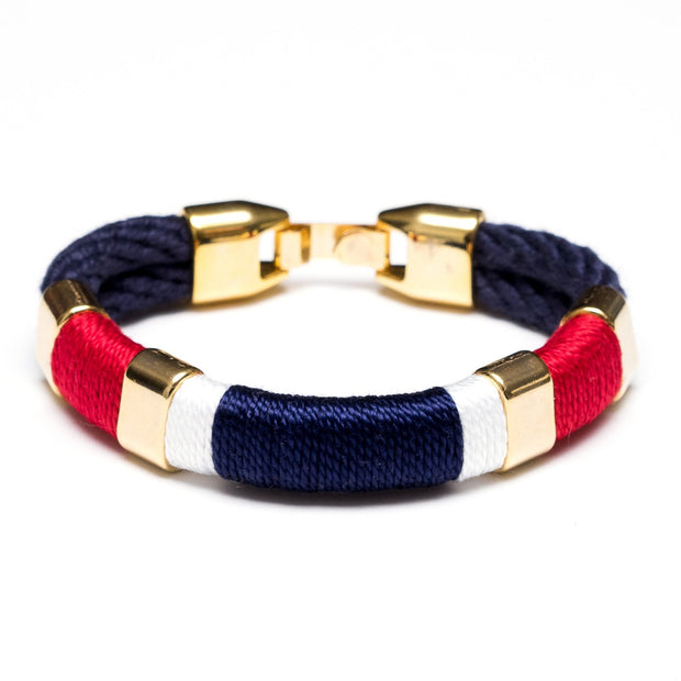 Allison Cole Newbury Bracelet (Navy/Red/White/Navy/Gold)