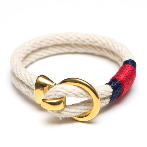 Allison Cole Deckard Bracelet (Ivory/Navy/Red/Gold)