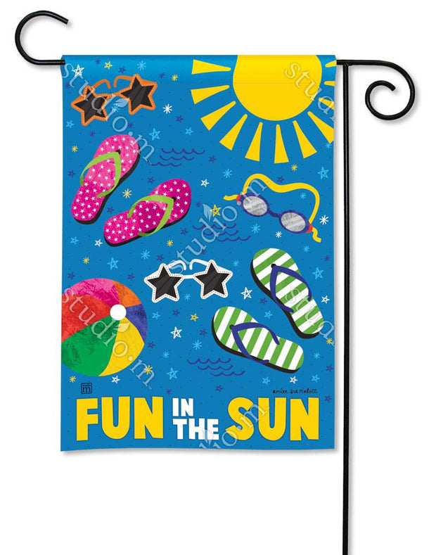 Summertime Fun Garden Flag
