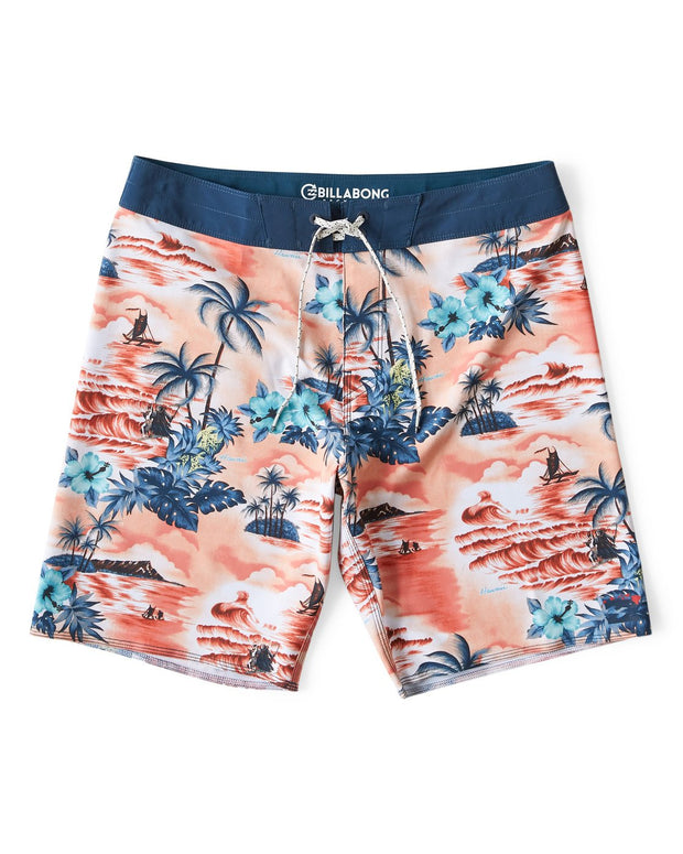 Billabong® Mens Sundays Airlite Hawaii Boardshorts (Tangerine)