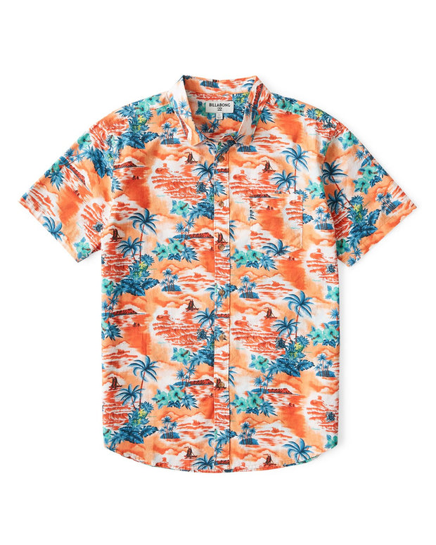 Billabong® Mens Sundays Hawaii Short Sleeve Shirt (Tangerine)