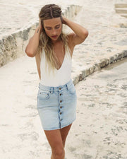 Billabong® Good Life Denim Skirt (Sunwash)