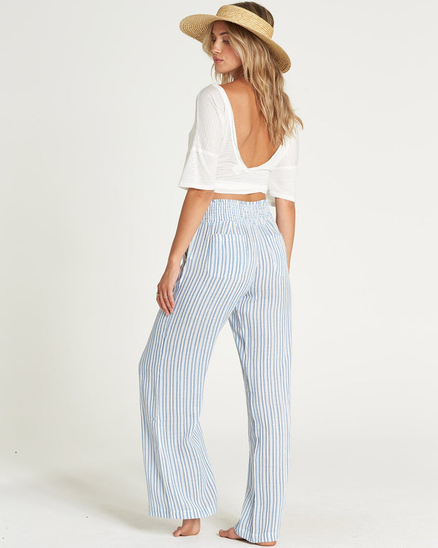 Billabong® New Waves Striped Beach Pant (Coastal Blue)