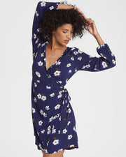 Billabong® Ruffled Wrap Dress (Deep Royal)