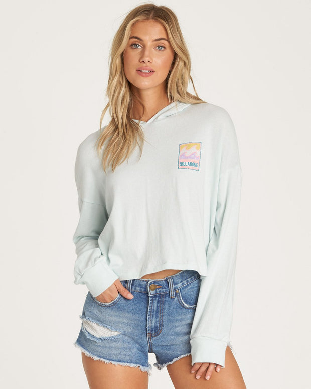 Billabong® Stamp Heritage Long Sleeve Tee (Seafoam)
