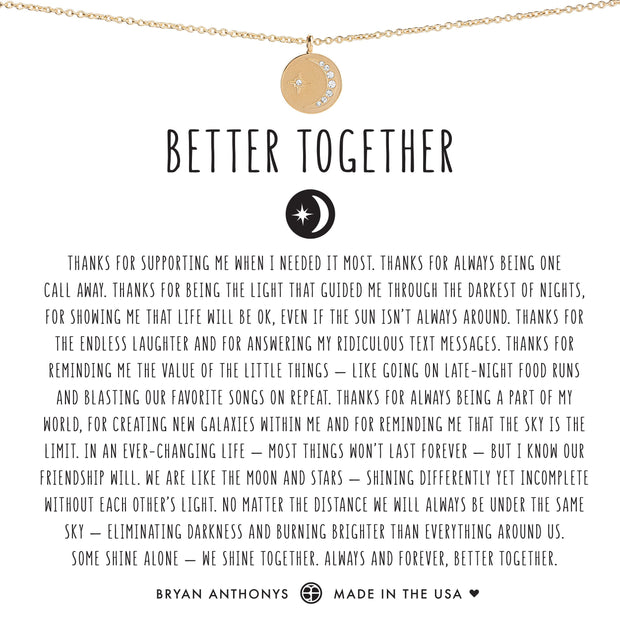 Bryan Anthonys Better Together Moon Necklace (Gold)