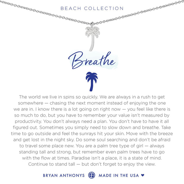 Bryan Anthonys Breathe Necklace - Silver