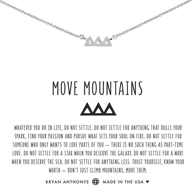 Bryan Anthonys Move Mountains Necklace - Silver
