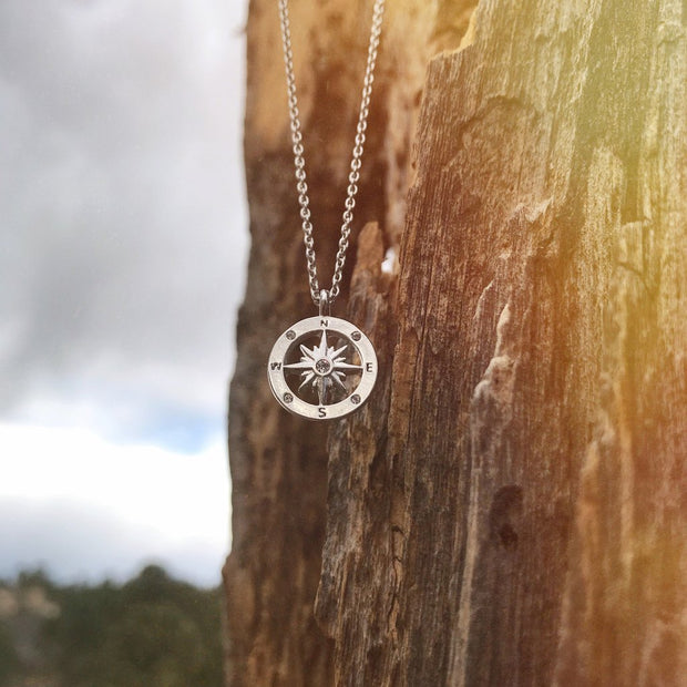 Bryan Anthonys Never Lost Compass Necklace (Silver)