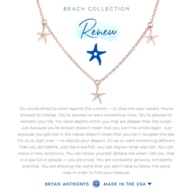 Bryan Anthonys Renew Anklet Starfish - Rose Gold