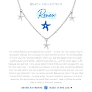 Bryan Anthonys Renew Anklet Starfish - Silver