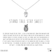 Bryan Anthonys Stand Tall Stay Sweet Pineapple Necklace - Silver