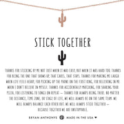 Bryan Anthonys Stick Together Cactus Necklace - Rose Gold