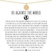 Bryan Anthonys Us Against The World Necklace - Gold