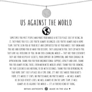 Bryan Anthonys Us Against The World Necklace - Silver