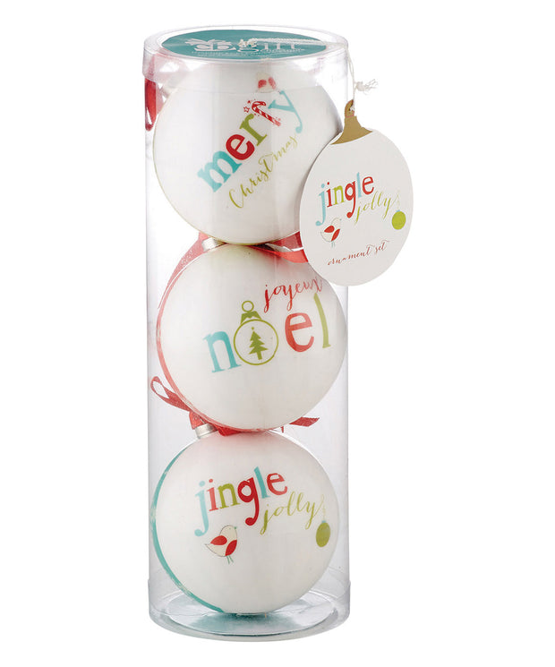 Jingle Jolly Decoupage Ornament Set