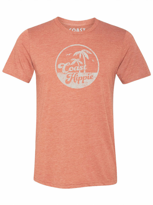 Coast Hippie Retro Palms Tee (Sunset)