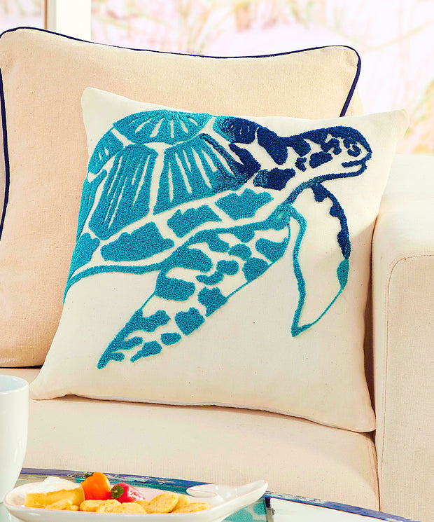 Decorative Sea Turtle Throw Pillow