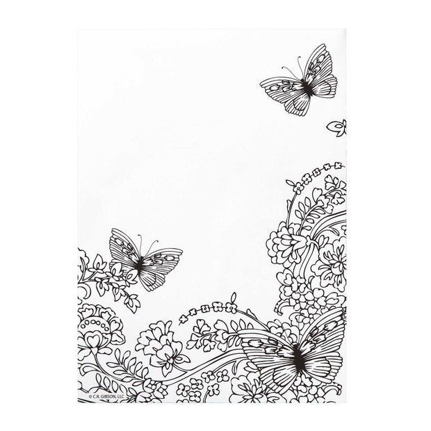 Earth Laughs in Flowers Coloring List Pad