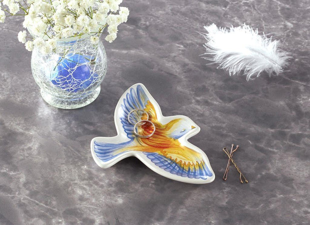 Air Element Bird Trinket Dish by Cherish Flieder