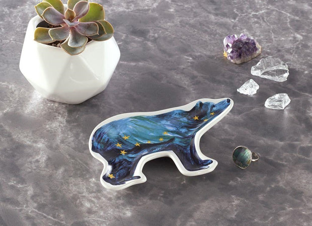 Cosmos Element Bear Trinket Dish by Cherish Flieder