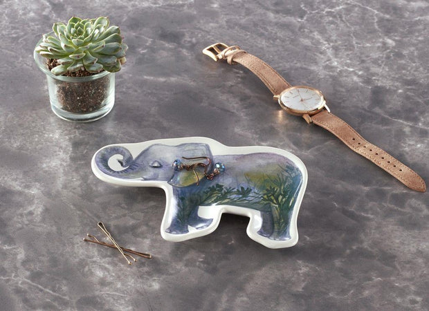 Earth Element Elephant Trinket Dish by Cherish Flieder