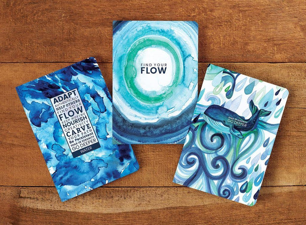 Water Element Flow Journals by Cherish Flieder
