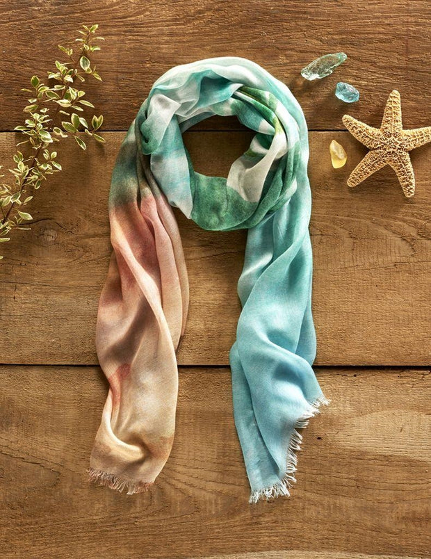Water Element Seascape Scarf by Cherish Flieder