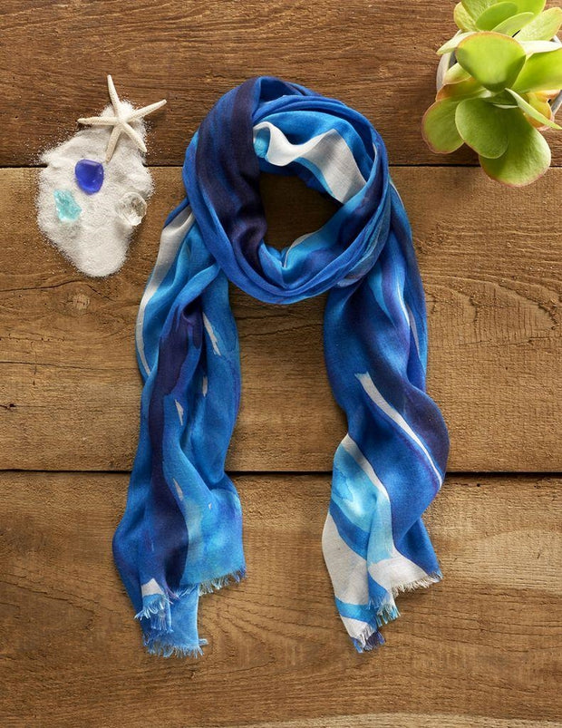 Water Element Tranquility Scarf by Cherish Flieder