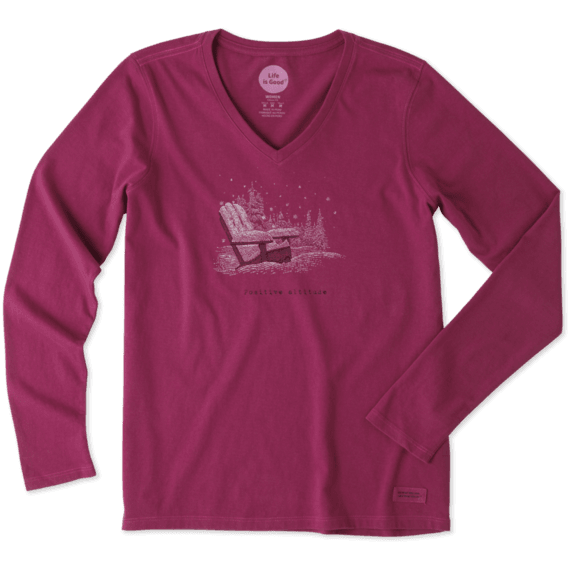 Life Is Good® Women's Positive Altitude Adirondack Long Sleeve Crusher Vee