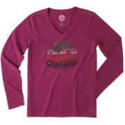 Life Is Good® Women's Family Ties Long Sleeve Crusher Vee