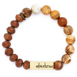 "Stone + Crystal Personality Bracelet - ""Adventerous"""