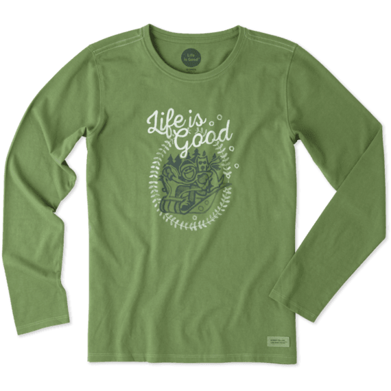 Life Is Good® Women's Jake And Rocket Sled Long Sleeve Crusher Tee