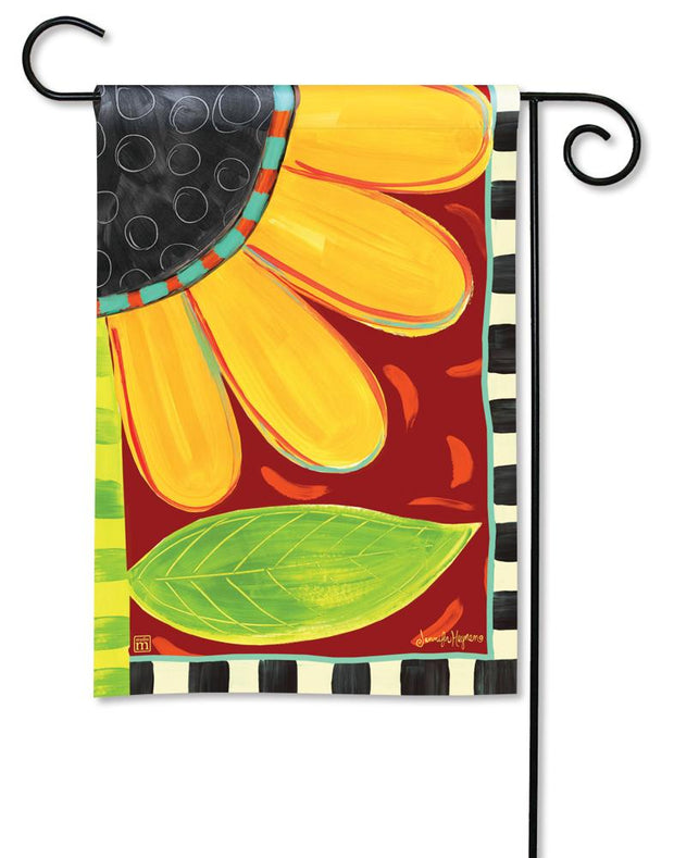 Whimsical Sunflower Garden Flag