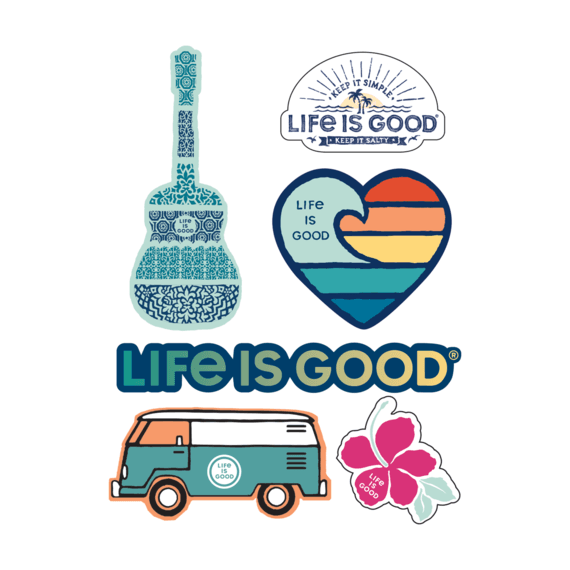 Life Is Good® Beach 6 Sticker Pack