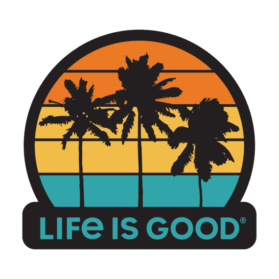 Life Is Good® Get Away Palms Decal