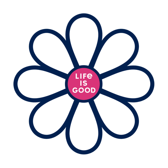 Life Is Good® Simple Daisy Die Cut Sticker