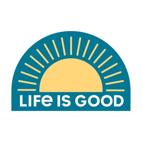 Life Is Good® Sunrise Die Cut Sticker