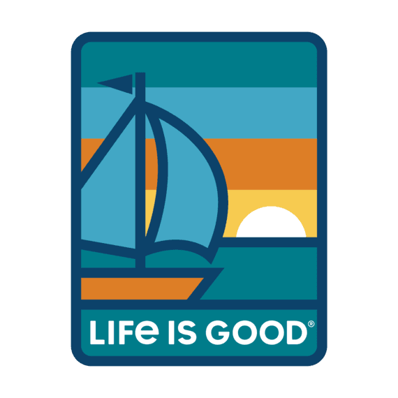 Life Is Good® Sunset Sail Decal