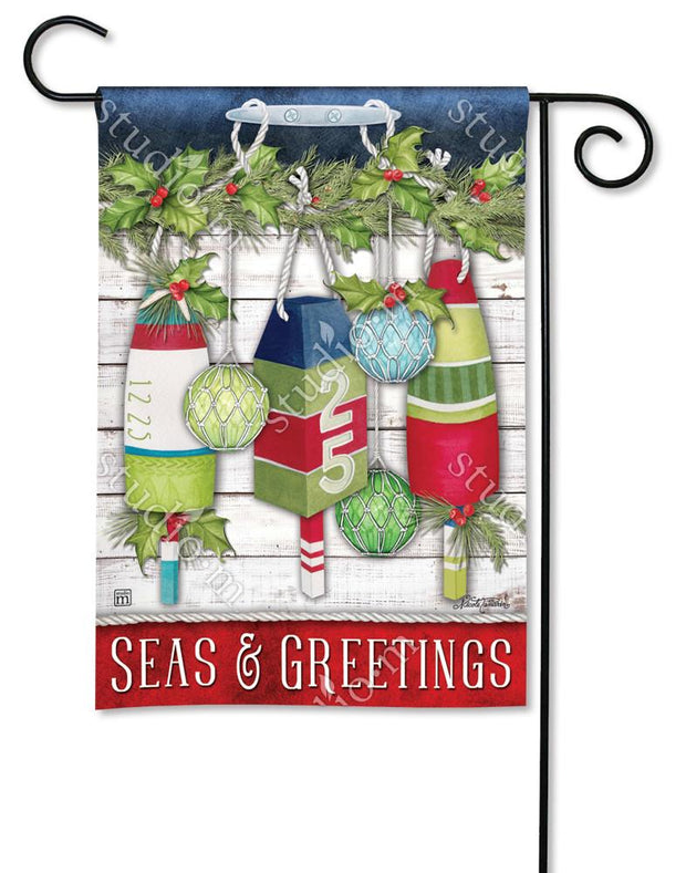 Seas and Greetings Garden Flag