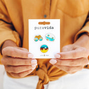 Pura Vida Explore Pin Set