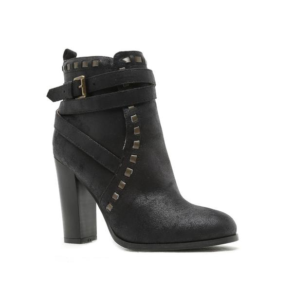 Belted Ankle Boot (Black)