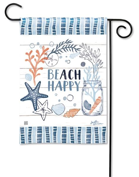 Beach Happy Garden Flag