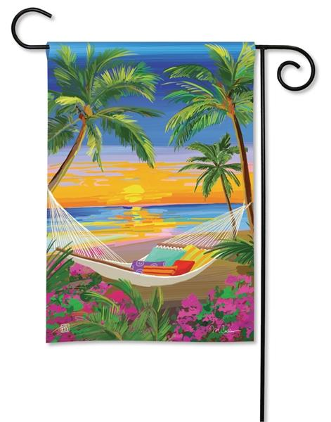 Beach Sunset Garden Flag