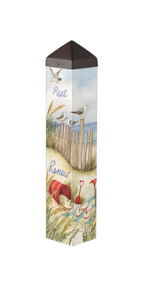 Relax Beach Art Pole by Susan Winget